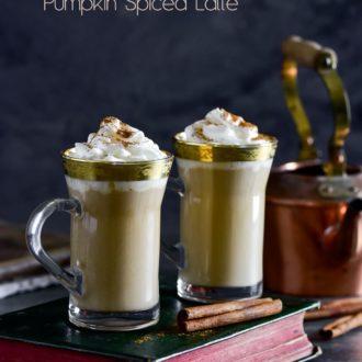 Pumpkin Spice Latte Recipe @whiteonrice