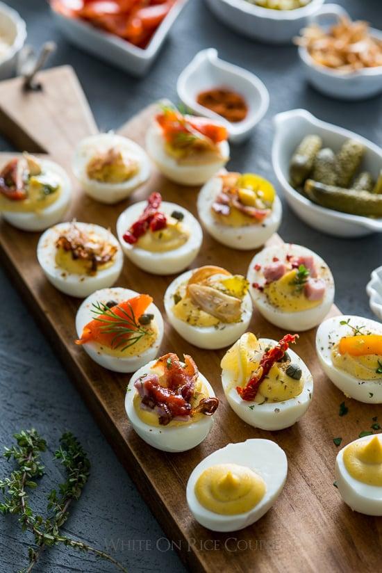 Deviled Eggs Recipe for Deviled Egg Bar Party
