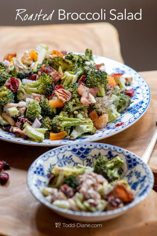 Roasted Broccoli Salad Recipe on a plate