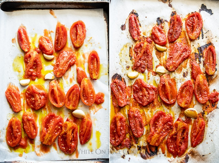 Roasted canned san marzano tomatoes from can | whiteonricecouple.com