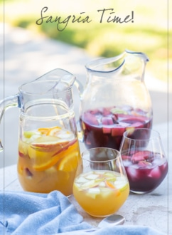 Sangria Recipe with Red Sangria or White Sangria Recipe | WhiteOnRicecouple.com
