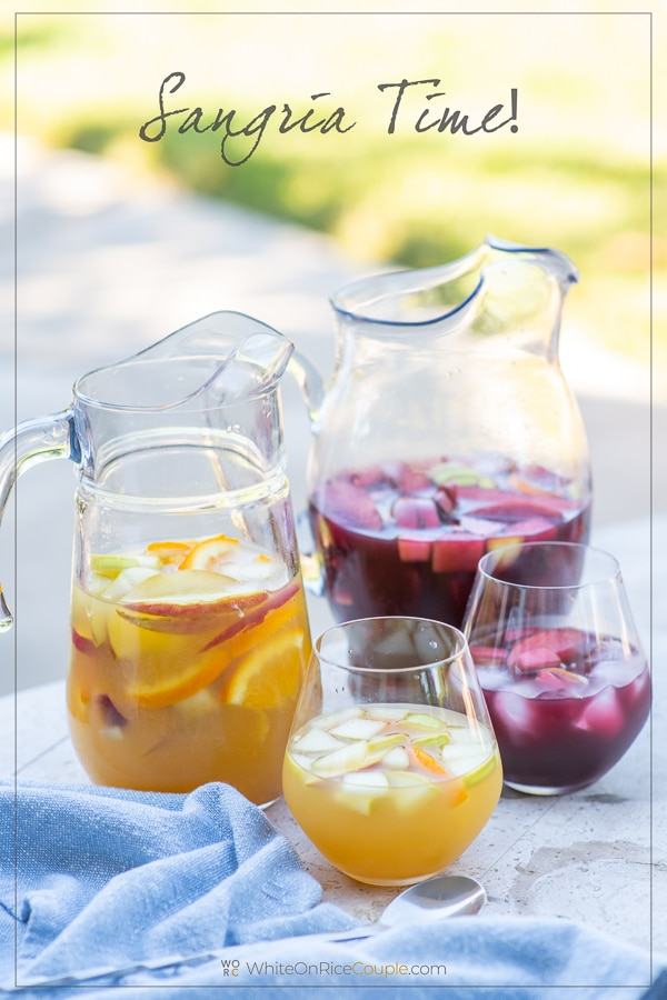Sangria Recipe with Red Sangria or White Sangria Recipe | WhiteOnRicecouple.com