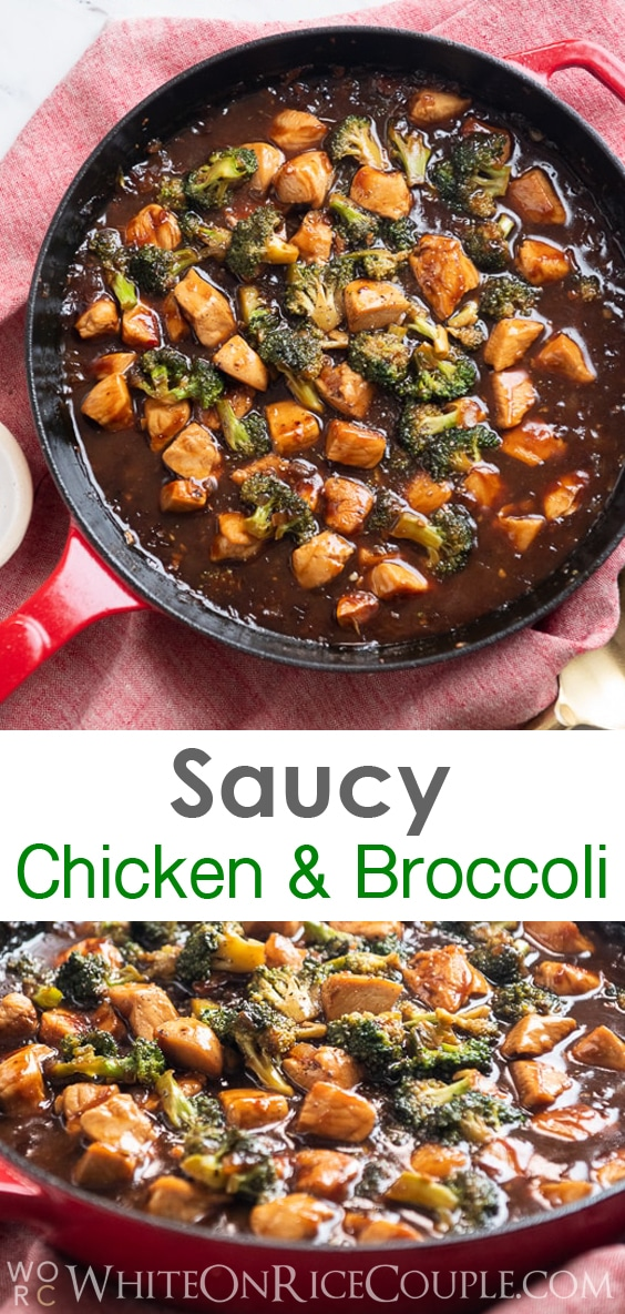 Chicken Broccoli Stir Fry that's Quick Easy and Healthy | WhiteOnRiceCouple.com