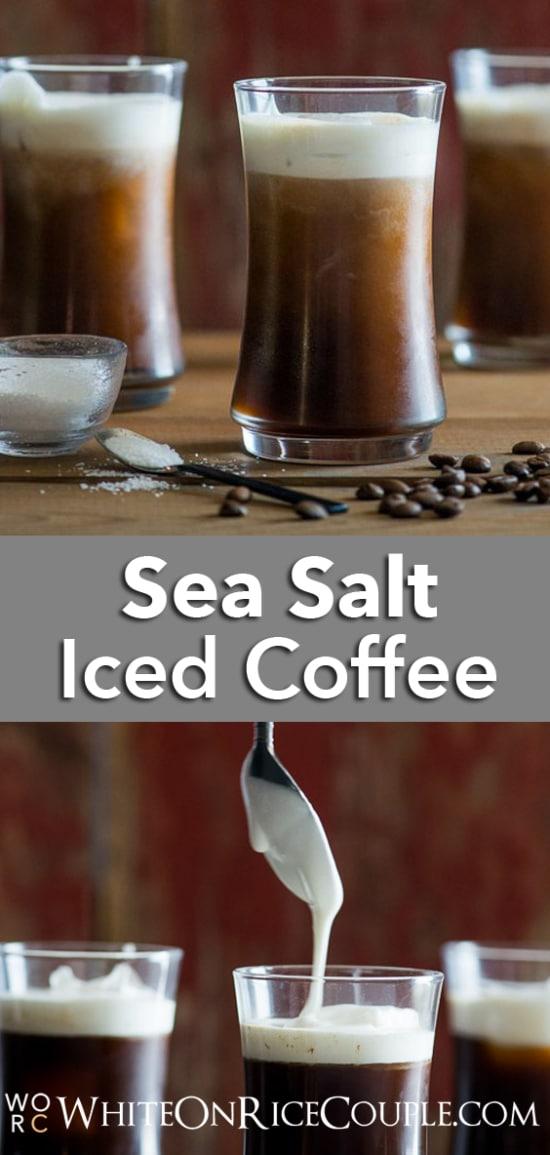 Sea Salt Cream Iced Coffee Recipe from @whiteonrice