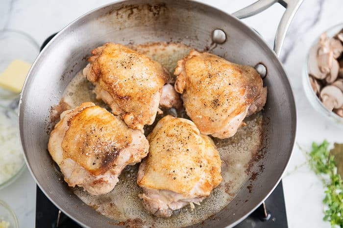 Skillet Chicken Mushroom Sauce Recipe | WhiteOnRiceCouple.com
