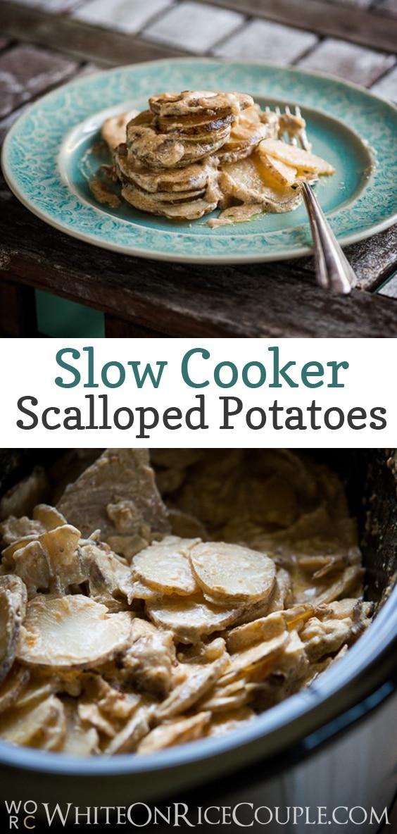 Slow Cooker Scalloped Potatoes Recipe