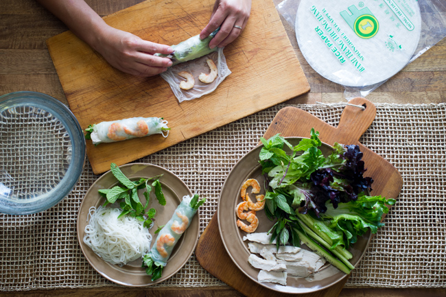 Vietnamese Fresh Spring Rolls Recipe or Summer Wrap Recipe | @whiteonrice