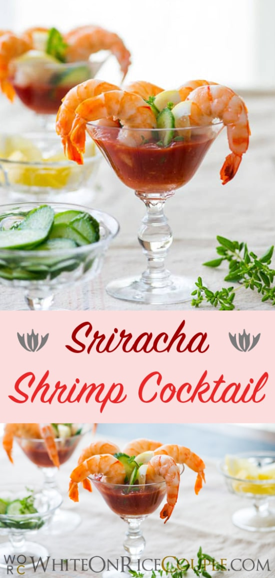 Sriracha Shrimp Cocktail Recipe | WhiteOnRiceCouple.com