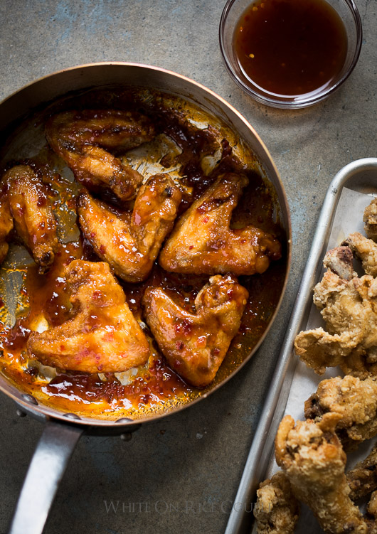 Incredible Sticky Fish Sauce Chicken Wings Recipe from @whiteonrice