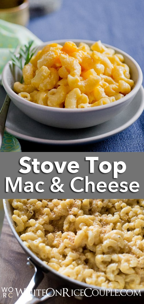 Easy Stove Top, One Pot Creamy Mac and Cheese Recipe. Seriously all cooked in one pot and delicious. | @whiteonrice