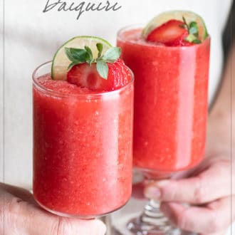 Strawberry Daiquiri Cocktail Recipe | WhiteOnRiceCouple.com