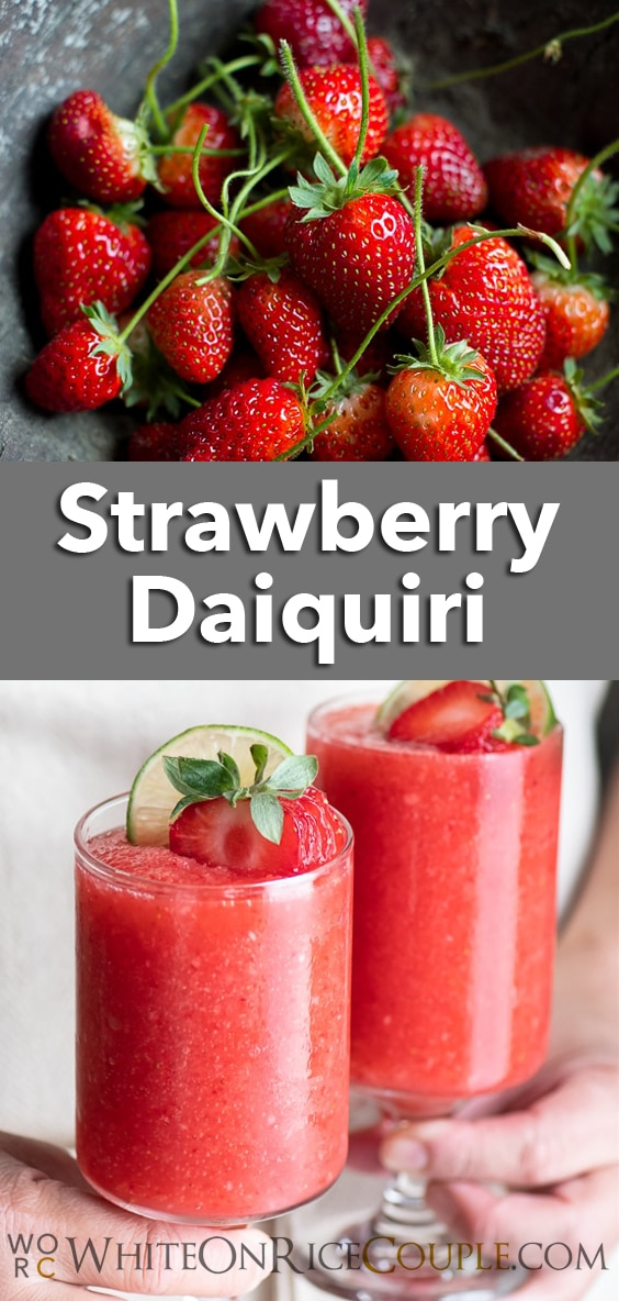 Strawberry Daiquiri Cocktail Recipe | WhiteOnRiceCouple.com