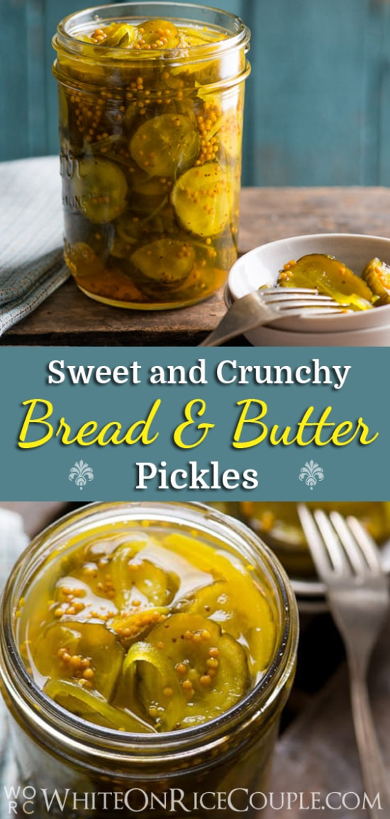 Easy Bread and Butter Pickles Recipe from @whiteonrice