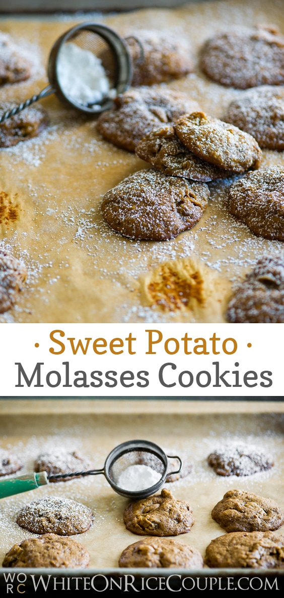 Sweet Potato Molasses Cookies | @WhiteOnRice