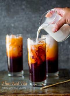 Pouring Thai Iced Tea