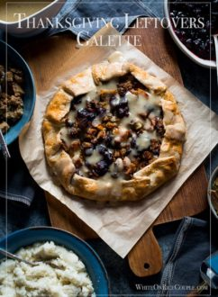 Tired of Leftover turkey sandwiches? Try Thanksgiving Leftovers Galette Recipe - @whiteonrice