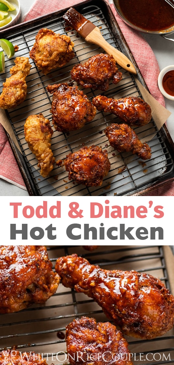 Spicy Hot Fried Chicken Recipe with Asian Flavors are so Good | @whiteonrice