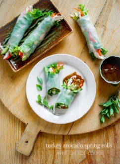 Fresh Turkey Spring rolls with Avocado | Spring Roll Recipe @whiteonrice