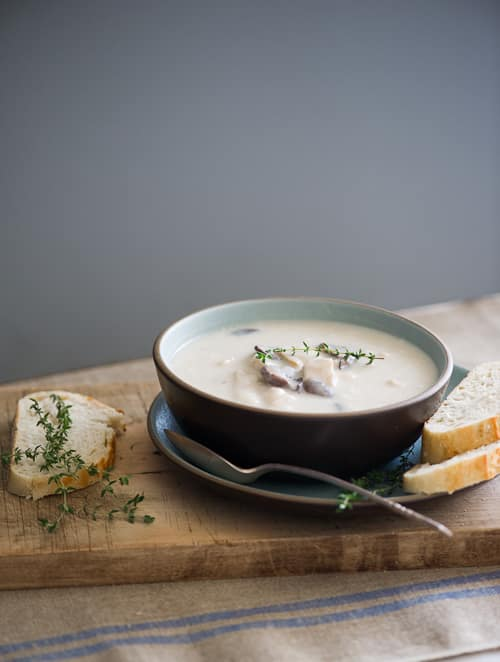 Creamy Turkey Potato Soup Recipe on @whiteonrice