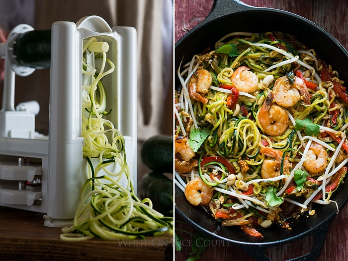 Vegetable Spiralizer Tool for Zucchini Noodle Recipes and Zoodles | @whiteonrice