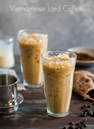 Vietnamese Iced Coffee Recipe or Iced Vietnamese Coffee @whiteonrice