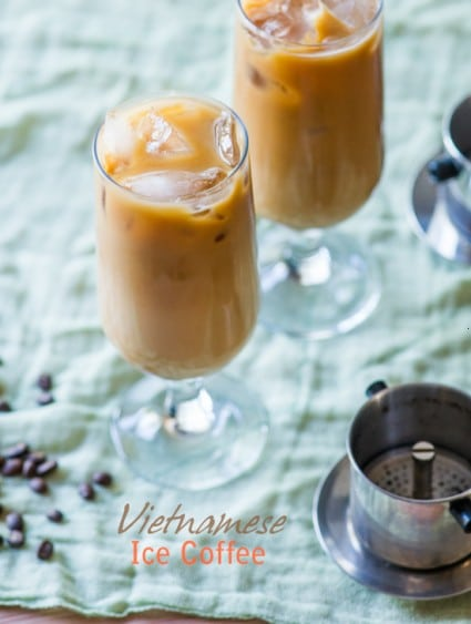 Vietnamese Iced Coffee Recipe with Espresso in glass cups