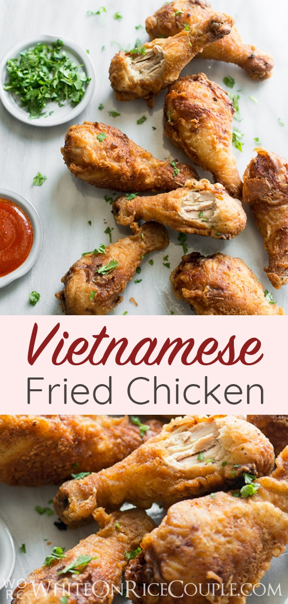 Crispy and flavorful Vietnamese Fried Chicken Recipe on @whiteonrice