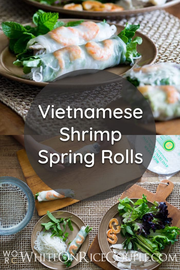 Vietnamese Pork and Shrimp Spring Rolls by White On Rice Couple