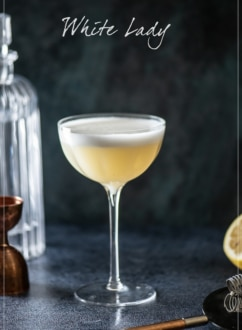 White Lady Classic Cocktail Recipe | WhiteOnRiceCouple.com