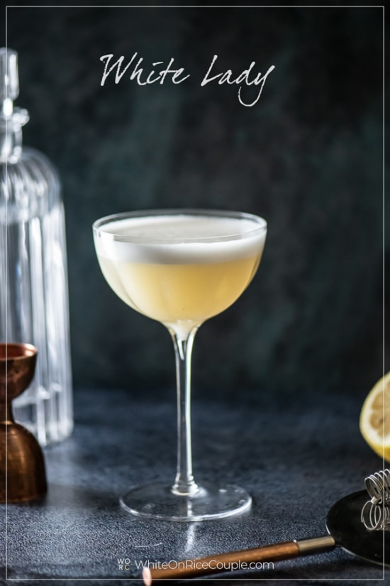 White Lady Classic Cocktail in a glass