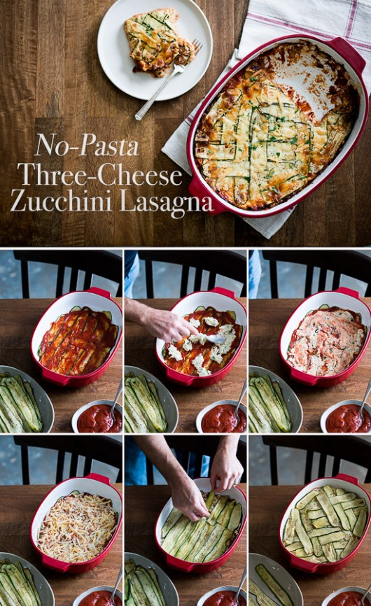 No Pasta, Zucchini Lower-Carb Lasagna step by step photos