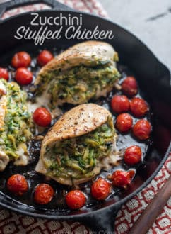 Zucchini Stuffed Chicken Breasts @whiteonrice