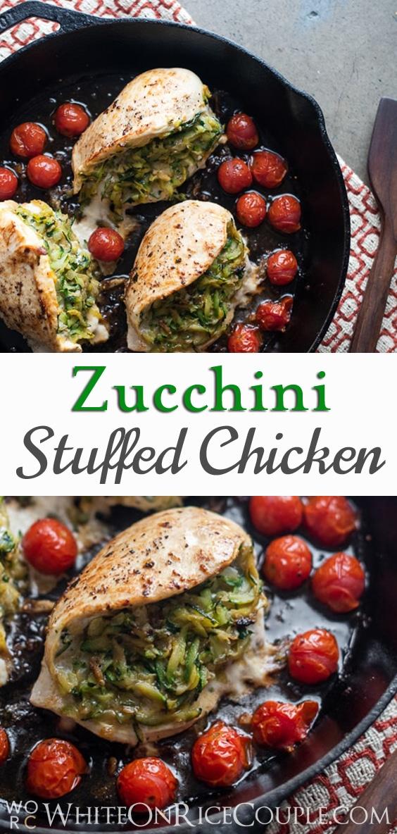 Zucchini Stuffed Chicken Breasts @whiteonrice