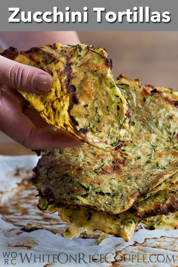 """Soft """"Taco"""" Shells made from Zucchini: Healthy, Low Carb and Delicious @whiteonrice"""