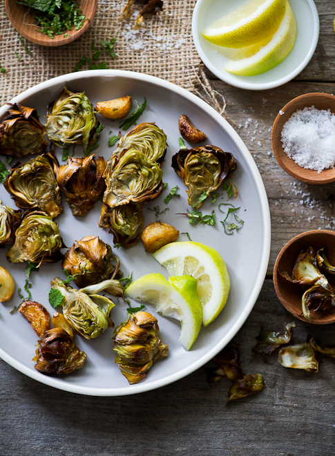 Fried Minted Artichokes