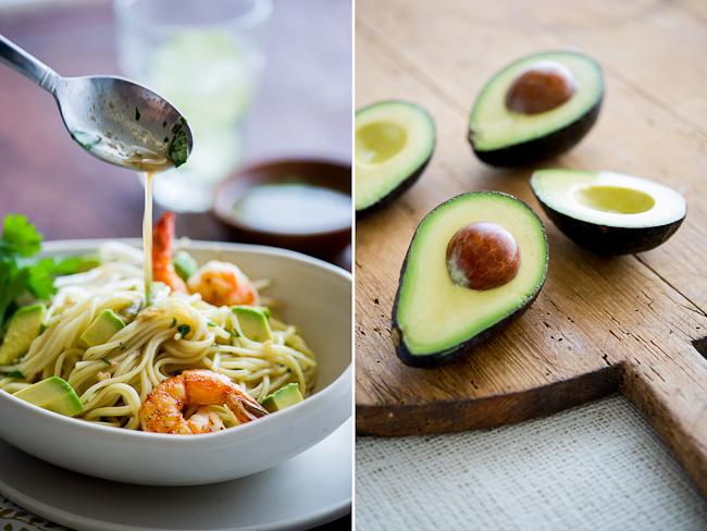 avocado Shrimp Noodle Salad dressing