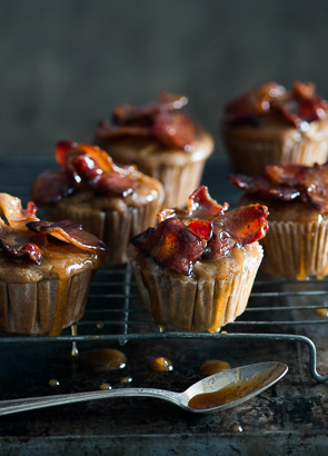 Killer Maple Bacon Apple Muffins