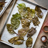 Thumbnail image for Crispy Baked Beet Green Chips