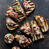 Thumbnail image for Baked Figs with Bacon, Cheese, Pecans on Grilled Bread