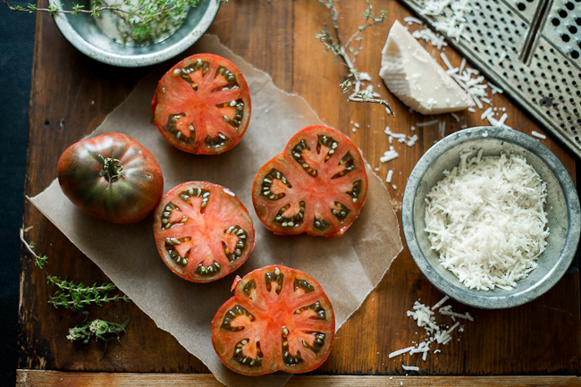 Baked Tomatoes Recipe for Breakfast by whiteonricecouple.com
