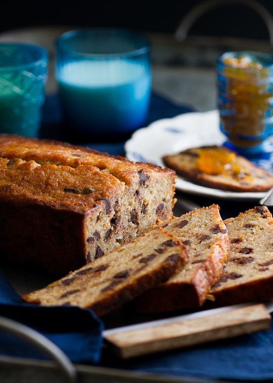 Orange Spiced Chocolate Banana Bread Recipe on WhiteOnRiceCouple.com