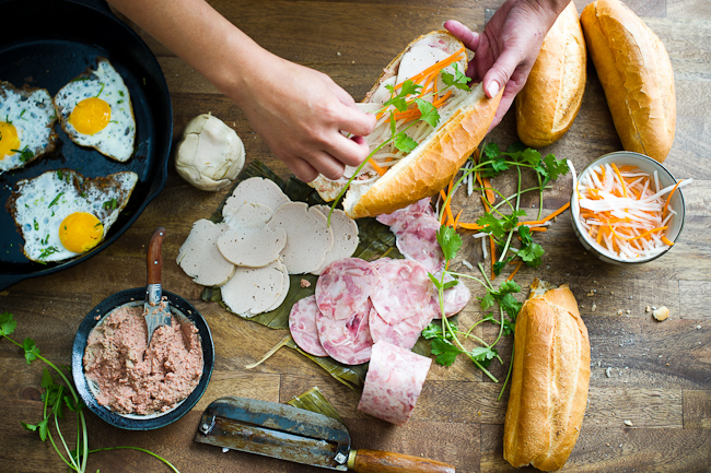 Vietnamese Banh Mi Recipe with Fried Egg | @whiteonrice