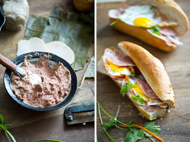 Vietnamese sandwich assembly