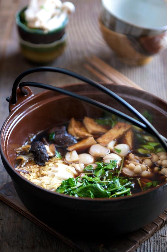 Family style asian dish hot pot