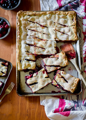 Chocolate Berry Slab Pie