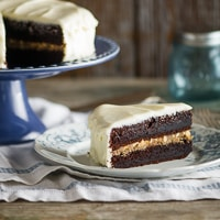 "Thumbnail image for ""Black Magic Cake"" with Butterscotch & Cream Cheese Frosting"