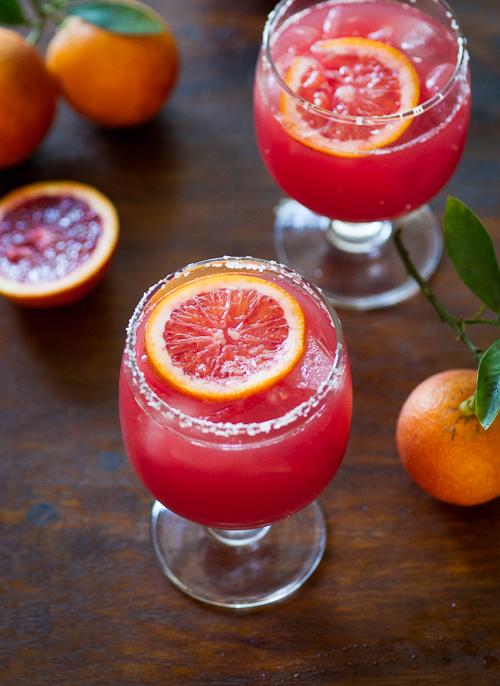 Blood Orange Margarita on WhiteOnRiceCouple.com