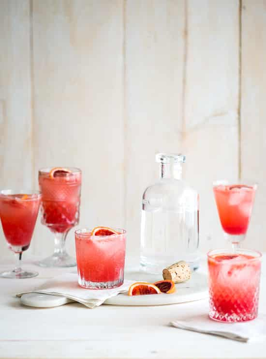 Refreshing Blood Orange Gin and Tonic Recipe in glasses