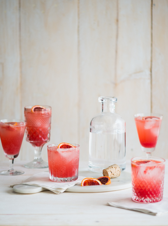 Refreshing Blood Orange Gin and Tonic Recipe on WhiteOnRiceCouple.com