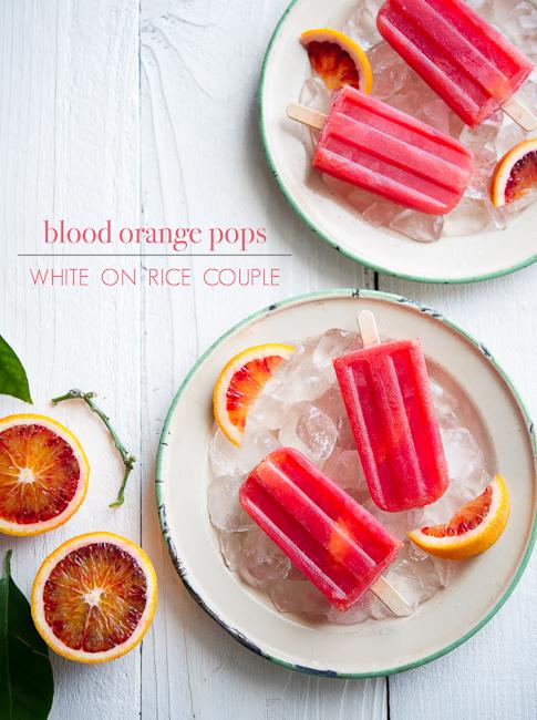 Blood Orange Pops Ice Popsicles Recipe | WhiteOnRiceCouple.com